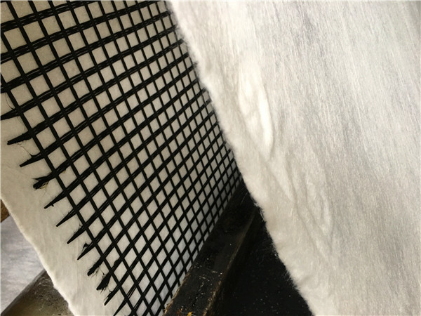FIBERGLASS GEOGRID COMPOSITE WITH GEOTEXTILE