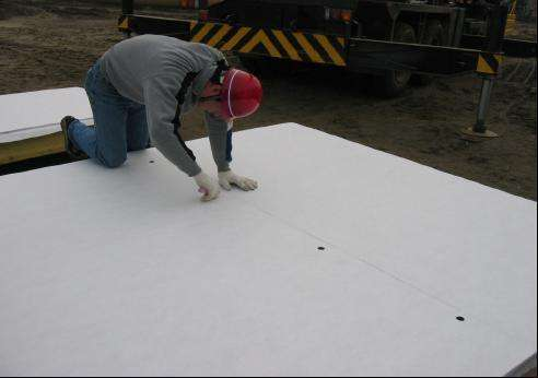 Concrete permeable template cloth